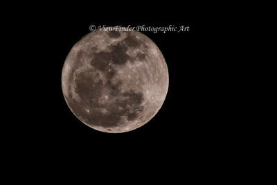 One of many images captured of the Super Perigee Moon in March 2011.